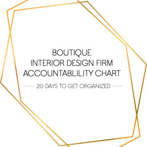 boutique interior design firm accountability chart