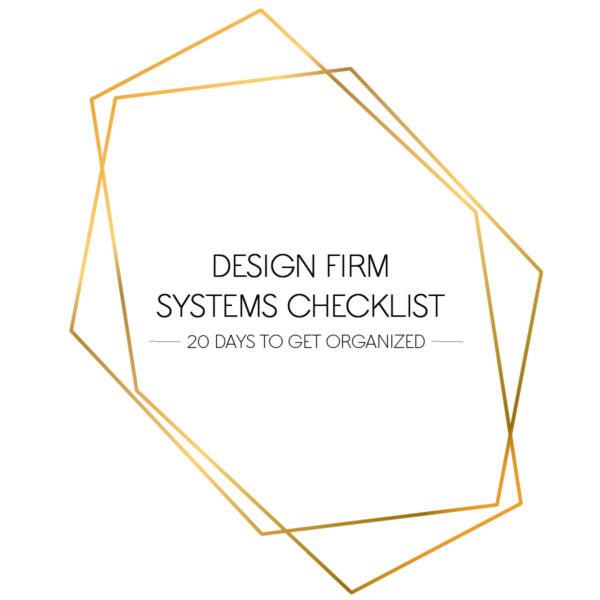 DESIGN FIRM SYSTEMS CHECKLIST