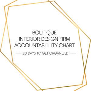 boutique interior design firm accountability chart