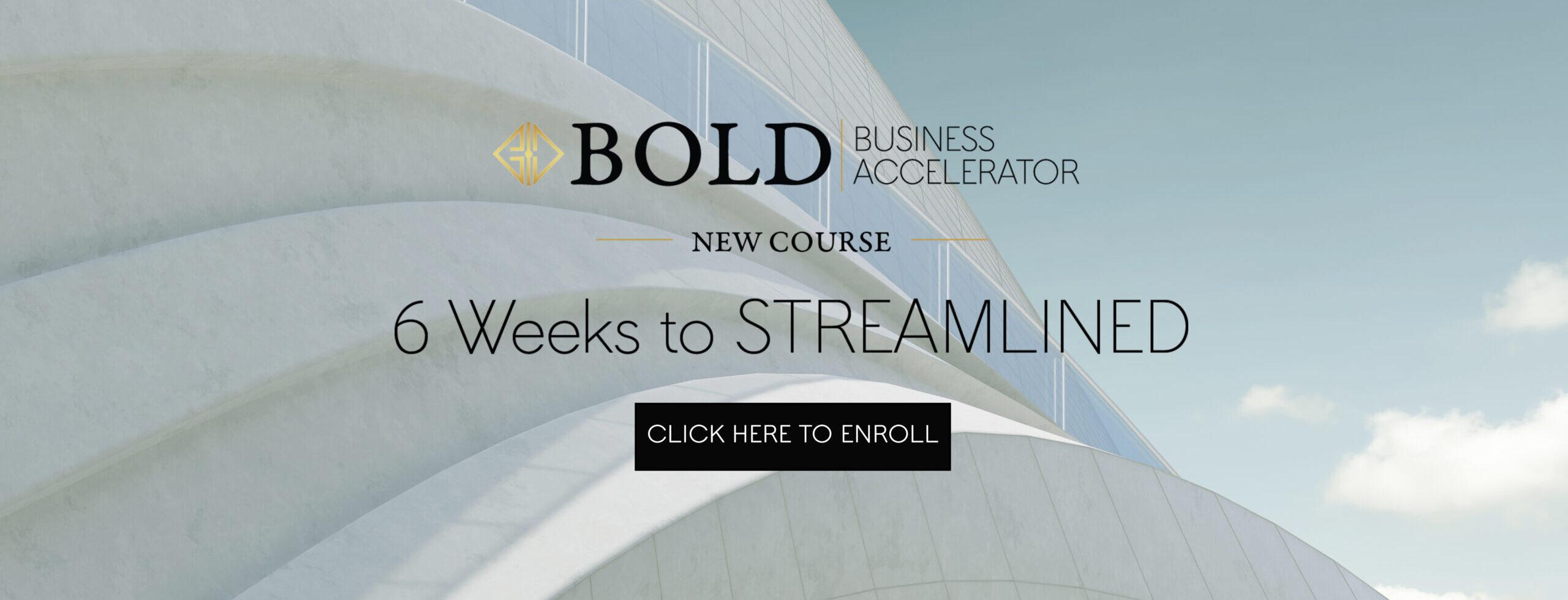 BOLD Business Accelerator Course
